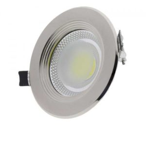 10W LED vdihnjena svetloba COB ROUND INOX nevtralna bela 4500K