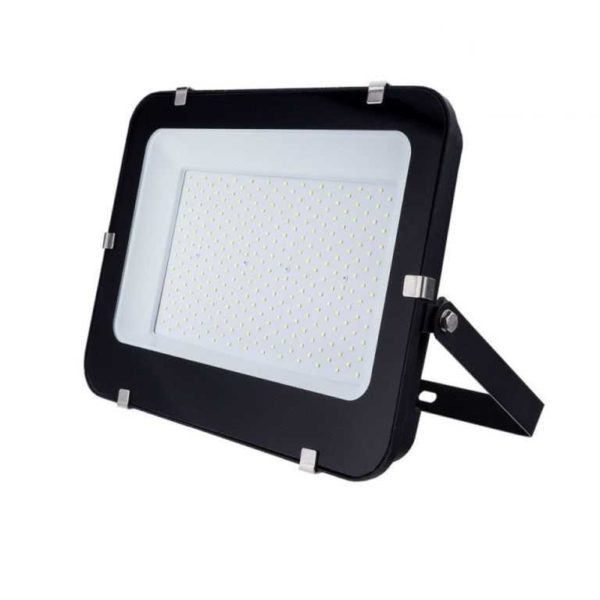 200W LED Fluter Strahler kaltweiss 6000K schwarz