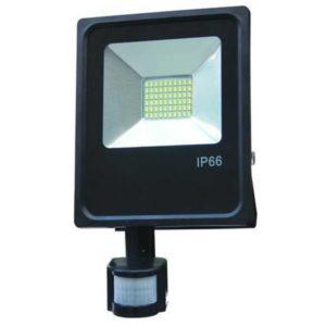 30W LED Fluter Strahler kaltweiss 6500K mit Bewegungsmelder