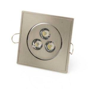 3W LED Einbauleuchten Quadratisch Warmweiß 2900K