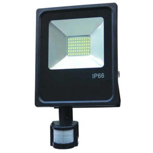 50W LED projektørlys spotlight kold hvid 6500K med bevægelsesdetektor