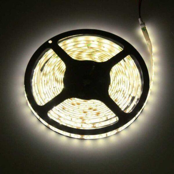 5m LED Streifen 12V 3528 warmweiß 2900K 4,8W IP20