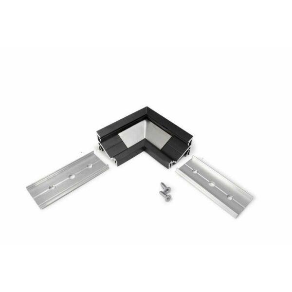 90° Eckverbindung für Eckprofil 14mm Serie schwarz