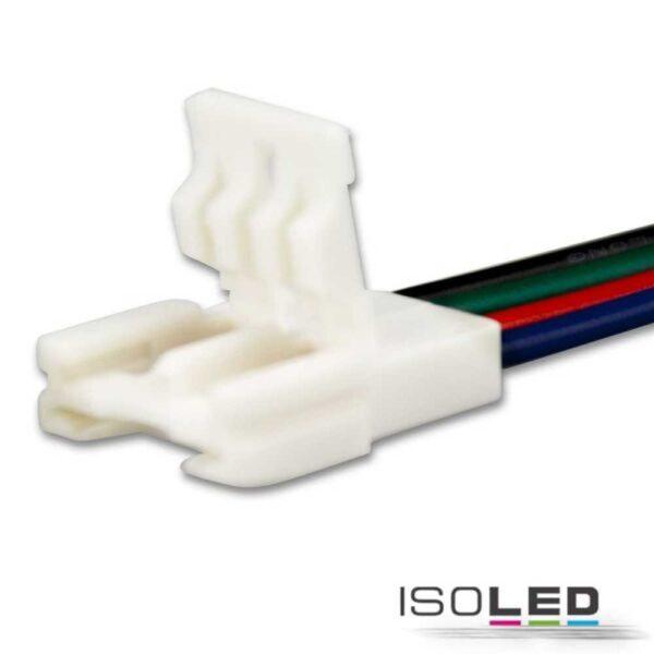 flexband-anschluss-4-polig-weiss-fuer-breite-10mm-mit-200mm-kabel