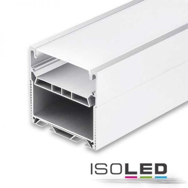 Isoled LED Leuchtenprofil LAMP55 eloxiert inkl. opal/satinierter Abdeckung, 150cm