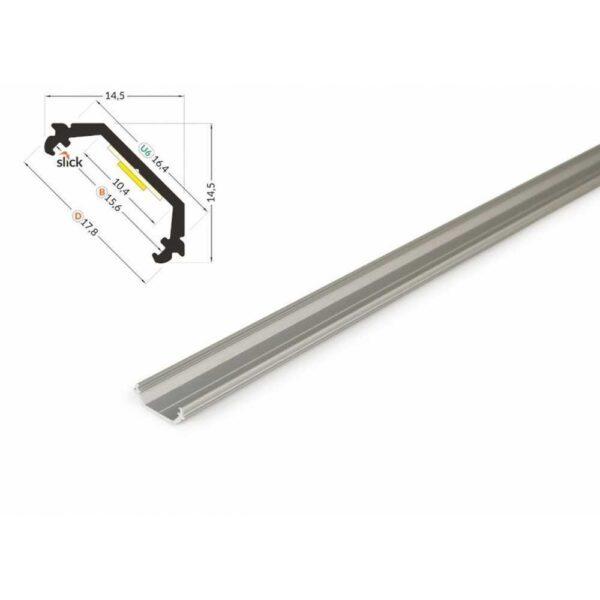 led-eckprofil-45-grad-silber