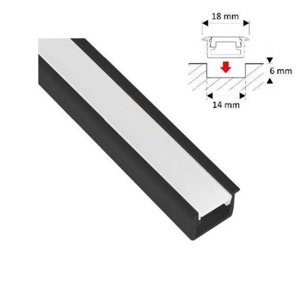 led-einbauprofil-leiste-schwarz-2m-inkl-klarer-abdeckung