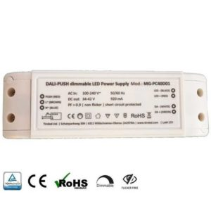 LED Treiber DALI-Push DIMMBAR für 40 Watt LED Panele