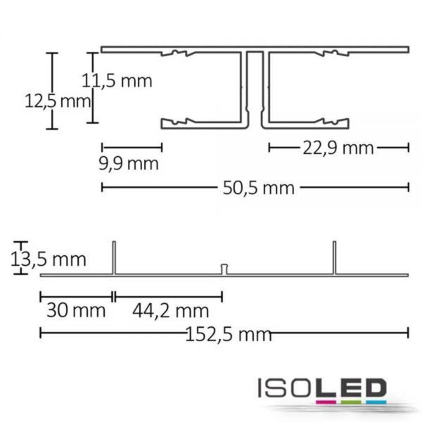 led-trockenbauprofil-planar-schwarz-eloxiert-200cm-inkl-opal-abdeckung2