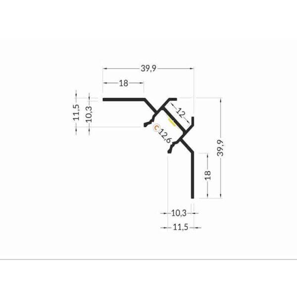2-meter-led-profil-fliesen-90-natureloxiert-silber-ohne-abdeckung-12mm-serie-m_2